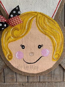 Whimsical Nurse Door Hanger - Blonde Hair