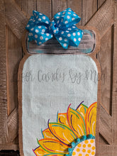 Load image into Gallery viewer, Sunflower in a Jar Door Hanger - Yellow Spring/Summer