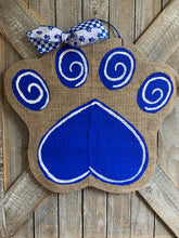Load image into Gallery viewer, Small Go Big Blue Cat Paw