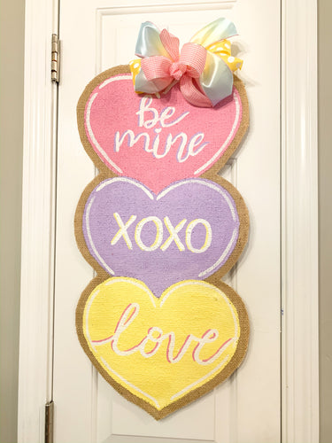 Valentine's Day Conversation Hearts Door Hanger