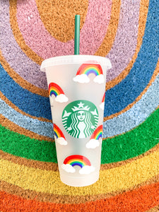 Reusable Cup in Rainbows