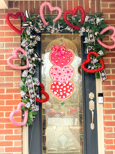 Leopard Hearts Door Hanger