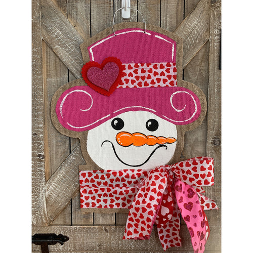 Valentine's Small Jolly Snowgal in Pink