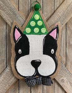 Party Hat Dog Door Hanger