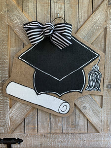 Graduation Cap and Diploma Door Hanger
