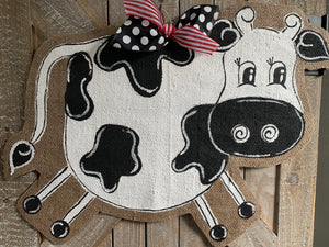 Cow Head Door Hanger - Full Body Whimsy Cow