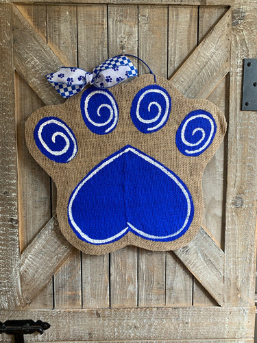 Small Go Big Blue Cat Paw