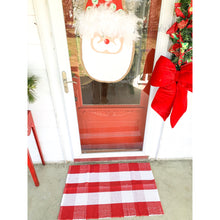 Load image into Gallery viewer, Red & White Buffalo Check Door Mat Rug