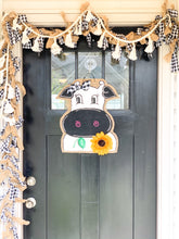 Load image into Gallery viewer, Cow Head Door Hanger - Whimsy Cow with Sunflower