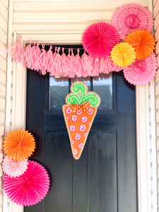 Easter Burlap Door Hanger - Polka Dot Carrot