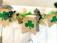 Load image into Gallery viewer, St. Patrick's Day Hand Tied Garland with Gold