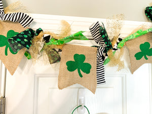 St. Patrick's Day Hand Tied Garland with Gold