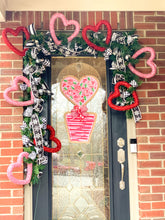 Load image into Gallery viewer, Heart Topiary Door Hanger in First Impressions Inspired Roses