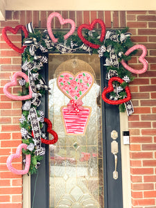 Heart Topiary Door Hanger in First Impressions Inspired Roses