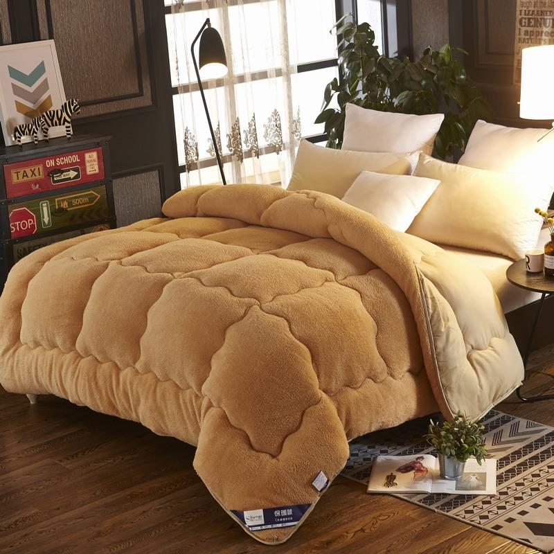 【BLACK FRIDAY FREE SHIPPING】4Kg Thicken Lamb Cashmere Blanket Winter Soft Warm Bed Quilt for Bedding Twin Full Queen King Size