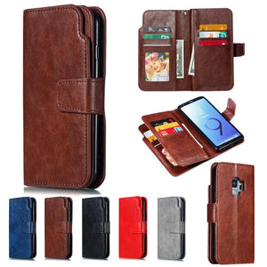 Leather wallet phone case for Samsung