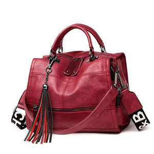 Leather Large Capacity Tote/ Handbag