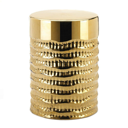 Gold Textured Stool