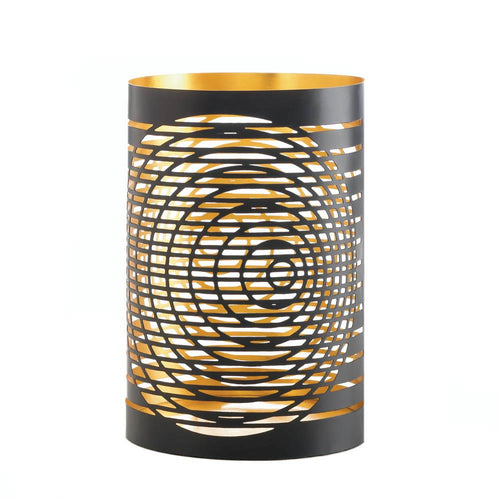 Black Gold Tall Candle Holder