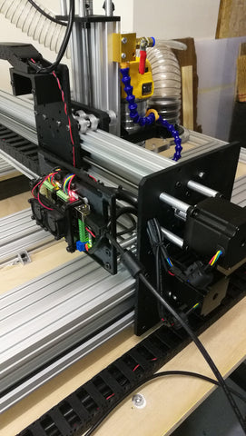 CNC router - g-code control board and Z-axis with step motors