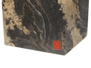Picture of an ART FUTURO Slate Cube in Rustique Slate, daytime view