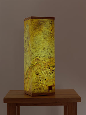 Slate Table Lamp Square