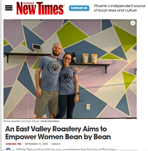 Empower Coffee Roasters Featured in Phoenix New Times