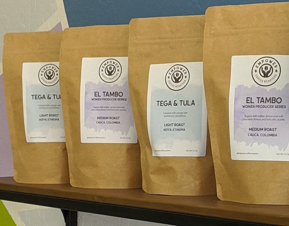 Specialty coffee sourced from farms that empower women