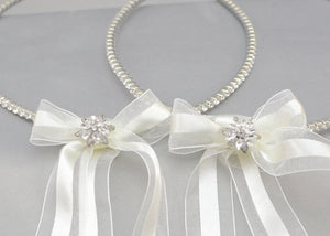 Life's Fairytale Wedding Crowns and Candles | Soft White