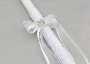 Catia Baptism Candles - White