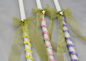Spring Blossoms Easter Candles