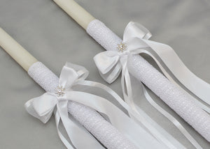 Forever Wedding Crowns and Candles | White