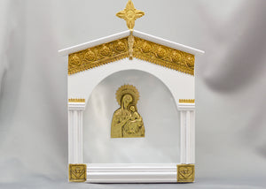 White Church Style with Golden Filigree Stefanothiki