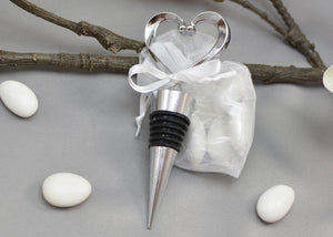 Heart Shape Bottle Stopper Bomboniera - Wedding Favor