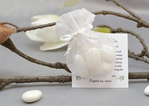Heart Shape Organza Bomboniera - Wedding Favor