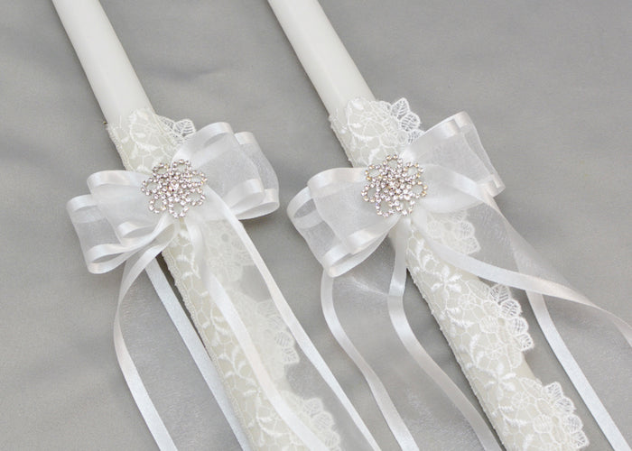 Greatest Adventure Wedding Candles | White