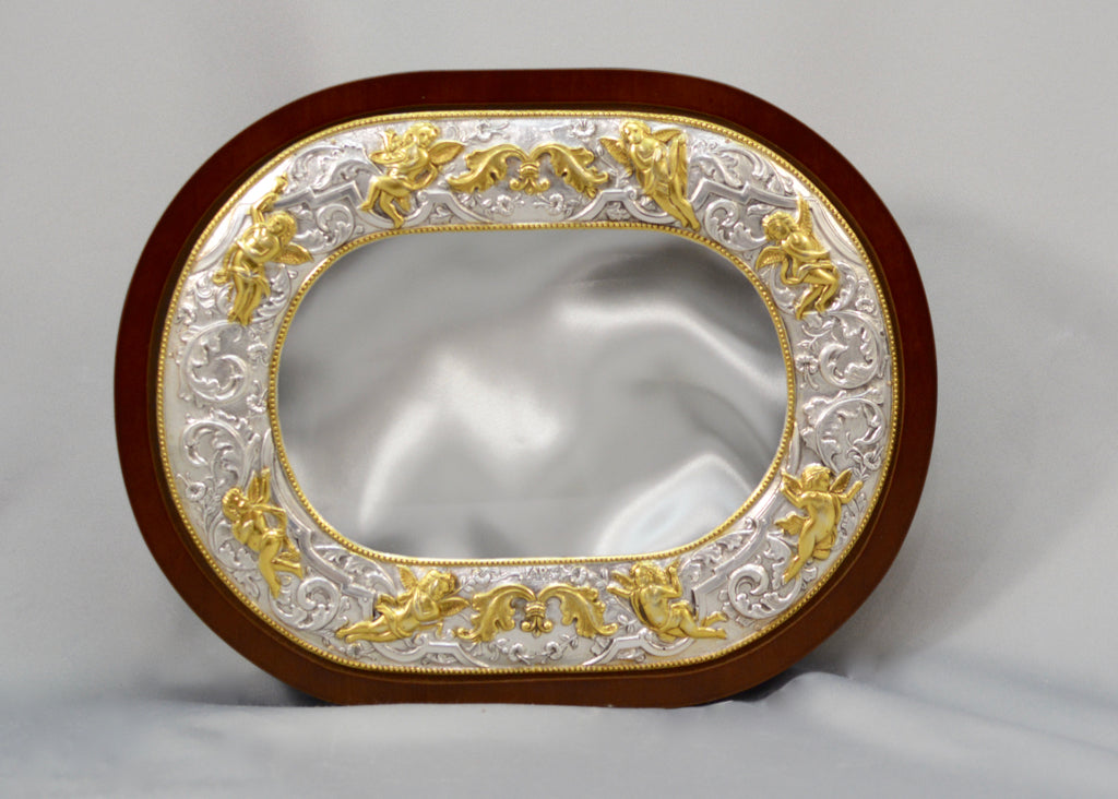 Gold Plated Oval Shape Crown Case Stefanothiki
