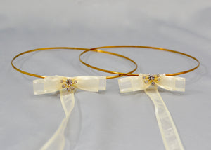 Love Struck Wedding Crowns | Antique Gold Color Band