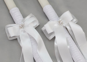Forever Wedding Candles | White