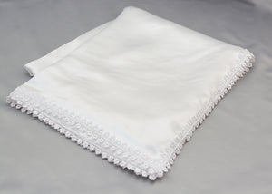White Lace Trimmed Russian Floor Mat
