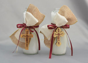 Bright Week Easter Candles -  Natural Wood