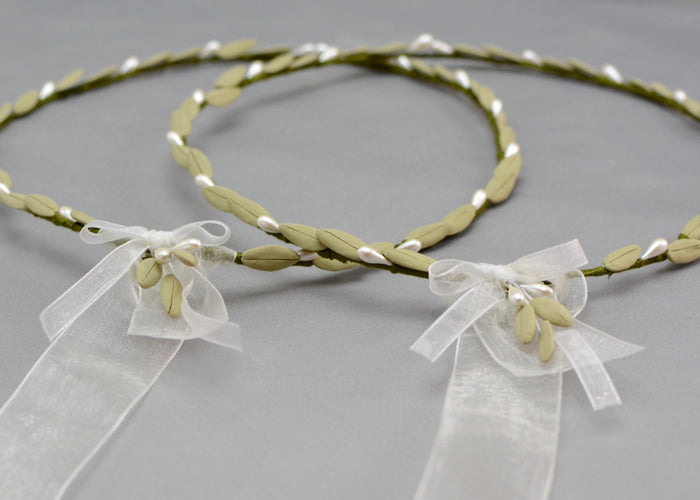 Olive Branch Wedding Crowns