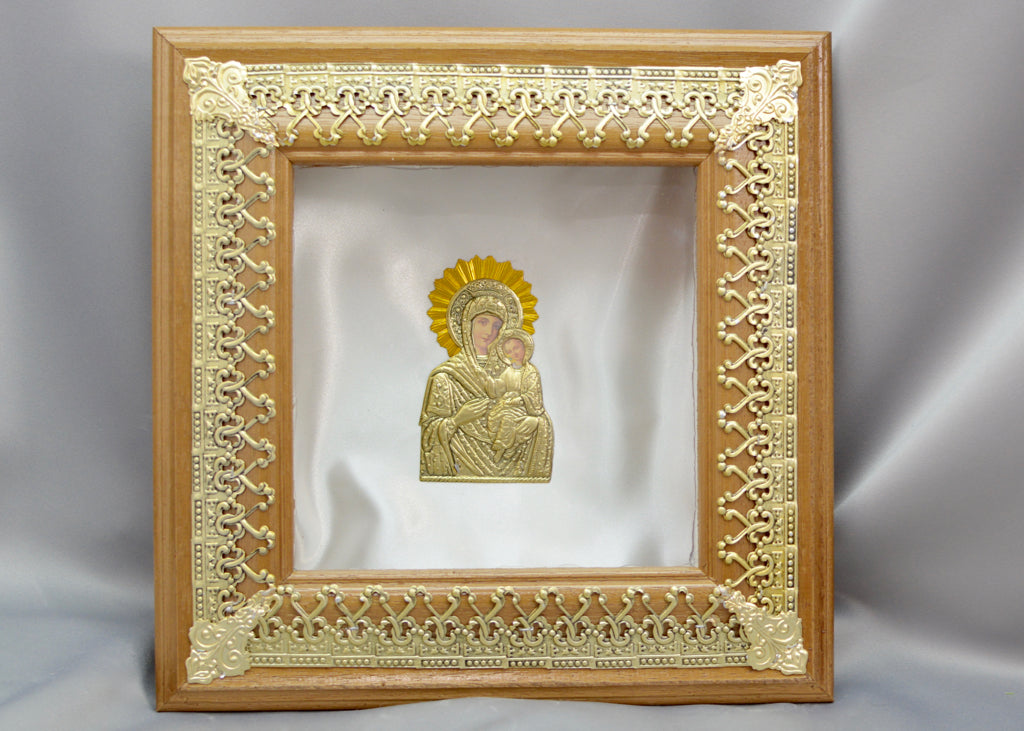 Brown Wooden with Gold Color Filigree Stefanothiki
