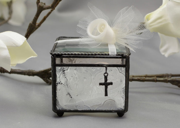 Ring Bearer Box with Cross Charm