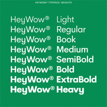 Load image into Gallery viewer, HeyWow Typeface
