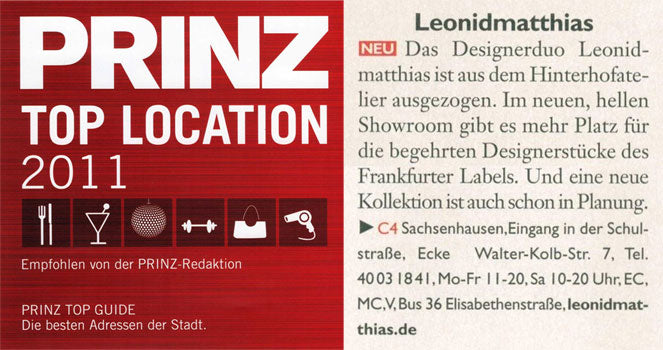 Prinz Top Guide, Januar 2011