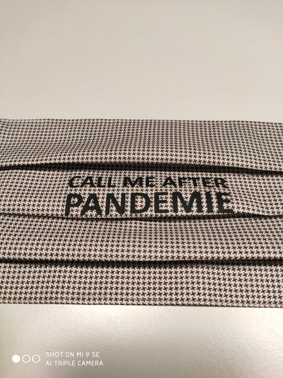 BMN - Maske Print Edition Call Me After Hahnentritt braun