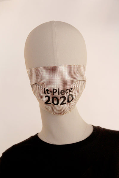BMN - Maske Print Edition It-Piece '20 Hahnentritt braun
