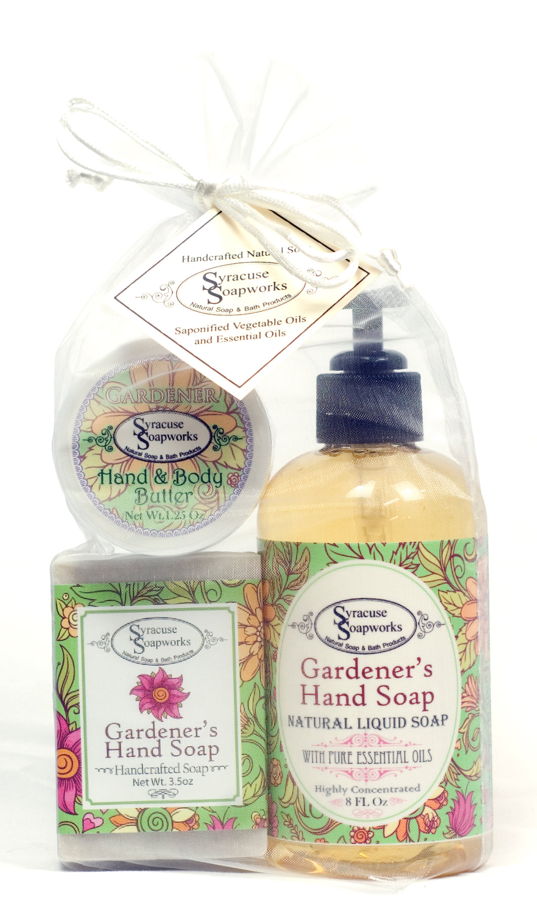 Liquid Soap Bar Soap & Butter Gift Set