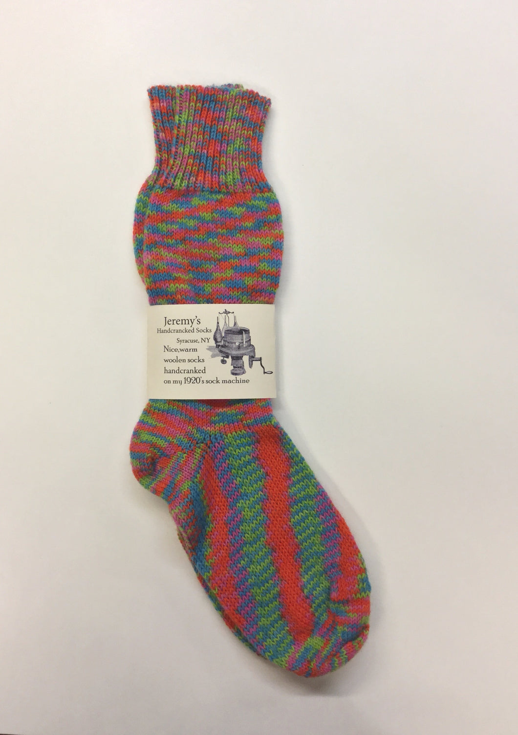 Hand cranked Wool Sock